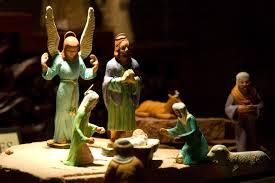 nativity exhibit christmas lights on the mesa arizona temple grounds
