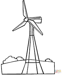wind turbine coloring page free printable coloring pages