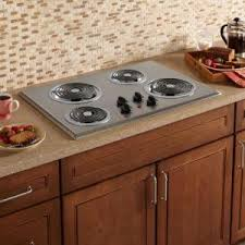 Home Depot Electric Cooktop Ge 30 In Coil Electric Cooktop In Stainless Steel With 4 Elements