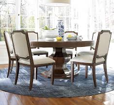 Round Pedestal Table Universal Silhouette 7 Piece Dining Set With Round Pedestal Table