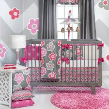 Girls Pink Rug Bedroom Design Pink Flowers Gray Crib Blanket Design With