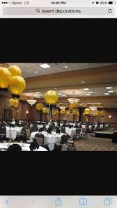 balloon centerpieces using fishing line can really set the