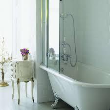 burlington hampton roll top shower bath with luxury feet 1500