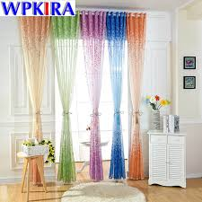 Sheer Curtains Orange Purple Voile Green Curtain Blue Tulle Orange Tulle For Window