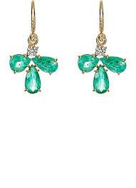emerald drop irene neuwirth white diamond emerald drop earrings barneys new