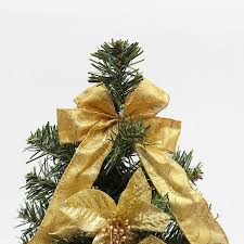 Small Decorative Artificial Christmas Trees by Aliexpress Com Buy New 35cm Golden Bow Decoration Small