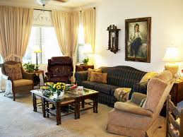 living room interior design with l shape leather sofa and