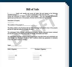 motorcycle bill of sales