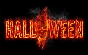 halloween red background halloween black background fire skull inscription halloween hd
