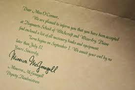 hogwarts letter of acceptance harry potter 13 harry potter