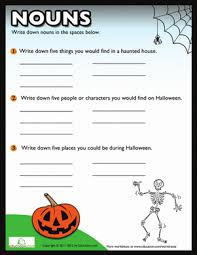 halloween nouns worksheet education com