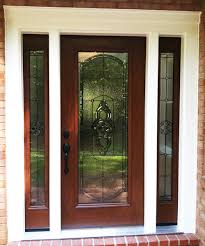 Custom Size Steel Exterior Doors Front Entry Doors With Sidelights And Transom Blinds For Door