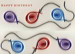 Creative Ideas To Make Greeting Cards - diy own birth day greeting card with color paper rolls