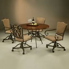 Dining Room Chairs With Casters And Arms Swivel Dining Room Chairs With Casters Ideas Of Chair Decoration