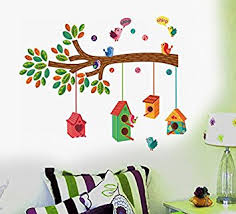 Buy Decals Design  Bird House On A Branch Wall Sticker PVC - Wall design decals