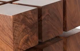 wood cube end table tensile table floating wood furniture levitates via magnets urbanist