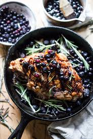 thanksgiving turkey glaze roasted turkey breast with blueberry balsamic glaze feasting at home