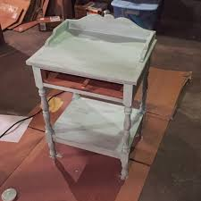 mint painted end table makeover u2014 weekend craft