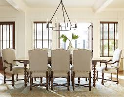 9 piece dining set with upholstered chairs by paula deen by