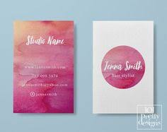 mint business card template printable business by 101prettydesigns