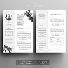 Resume Cv Sample Resume Template 4page Cv Template Cover By The Resume