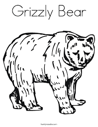 grizzly bear coloring funycoloring
