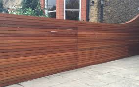 gallery of horizontal wood slat fence in hardwood screen trellis
