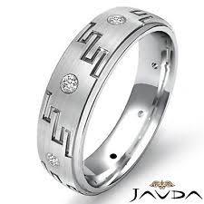 mens eternity rings diamond band white gold 18k rings for men ebay