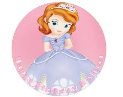 sofia the cake topper personalised 7 5 edible pre cut princess sofia birthday