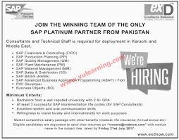 Sap Hana Resume Excellence Delivered Jobs In Karachi U0026 Middle East 2017 For