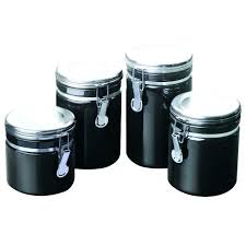 kitchen canisters black kitchen canister sets black coryc me