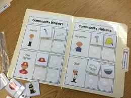 community helper file folder activities the autism helper