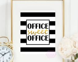 Wall Decor Ideas For Office Cute Office Decor Etsy