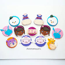 doc mcstuffins cupcake toppers doc mcstuffins inspired fondant cupcake toppers from