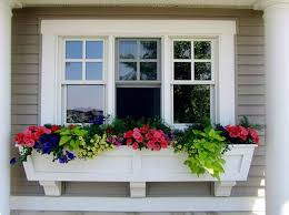 Window Flower Boxes White Window Flower Boxes Gallery Flower Decoration Ideas