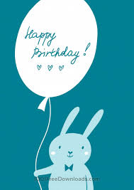 free vectors happy birthday card with cute bunny abstract