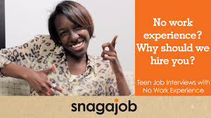 Resume With No Job Experience Template No Work Experience Why Should We Hire You Teen Job Interviews
