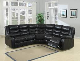 furniture alluring gael black faux leather sectional sofa photo