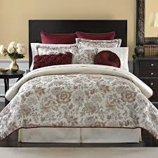 Burgundy And Brown Comforter Set Burgundy Blue Ivory Bedspreads And Comforters Croscill Romance