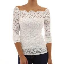 crochet blouses fashion shoulder white lace crochet blouses
