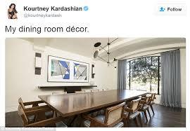 Kourtney Kardashian House Interior Design by Kourtney Kardashian Shows Off Dining Room Décor Ahead Of Annual