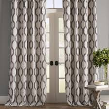 Curtain For Living Room by Modern Gray U0026 Silver Curtains Drapes Allmodern