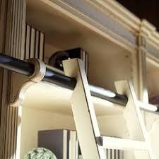 Bookcase Ladder Hardware Rockler Classic Rolling Library Ladder Ladder Hardware Satin
