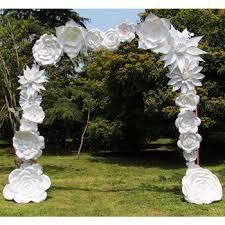 flower arch white handmade paper flower wedding arch buy paper flower arch