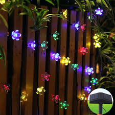 Glass Float String Lights by Novelty String Lights 20 Led Solar Powered Lotus Flower Outdoor