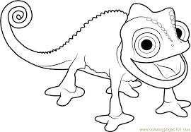 coloring pages chameleon coloring