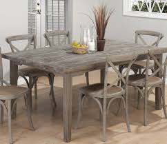 rustic dining table set tall wooden counter height farmhouse table