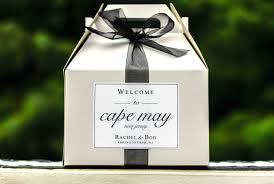 gable box with window minimalist wedding welcome bag sticker wedding gable box