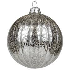 silver mercury glass baubles dzd