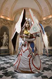 wedding dress ragnarok mecha wedding dress asuna sword online by santanacosplay on